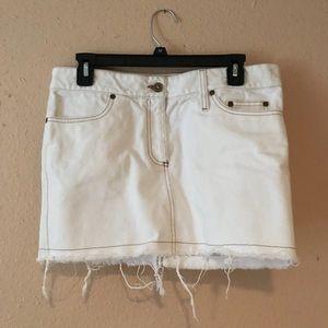 EUC Alexander McQueen White Jean Skirt